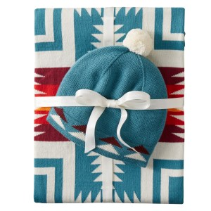 Knit Baby Blanket and Hat Set - Harding