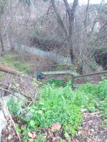 Parte superiore della rampa (protetta da un cancello tenuto ostaggio dal Tetano): ogni commento e' superfluo.