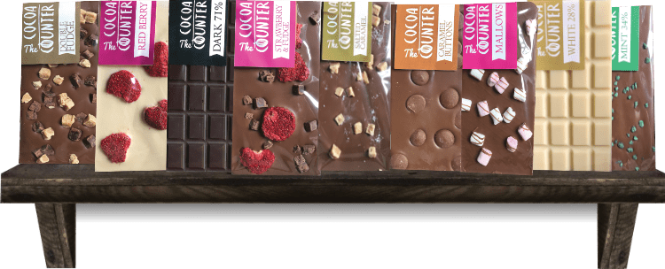 shelf of chocolate bars made in wales available online