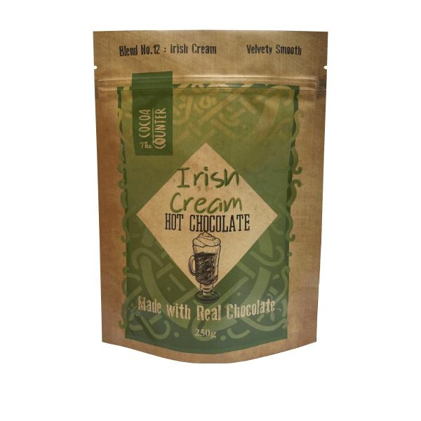 irish cream flavoured milk hot chocolate