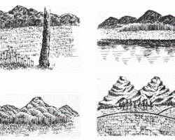 Pen and Ink Tutorials: Mountains