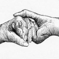 pen_ink_drawing_helping_hands