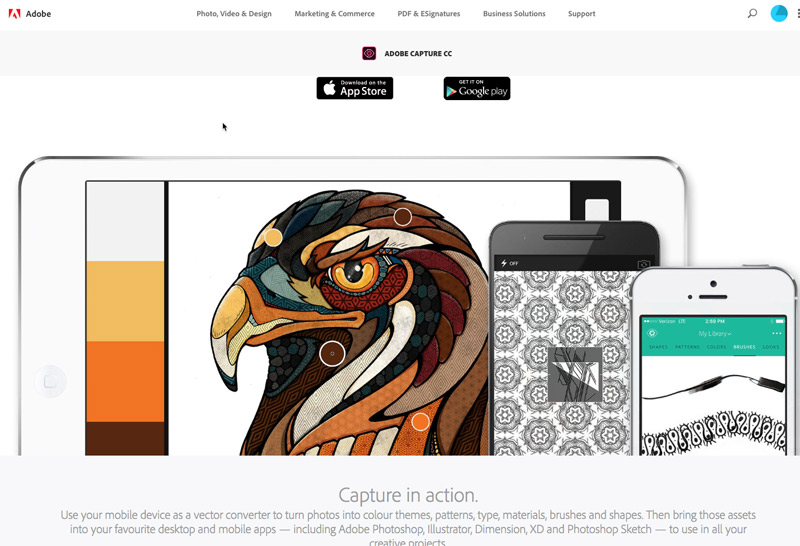 Adobe Capture CC is an amazing tool which uses your phone's camera to capture images