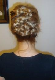 romantic renaissance braids updo