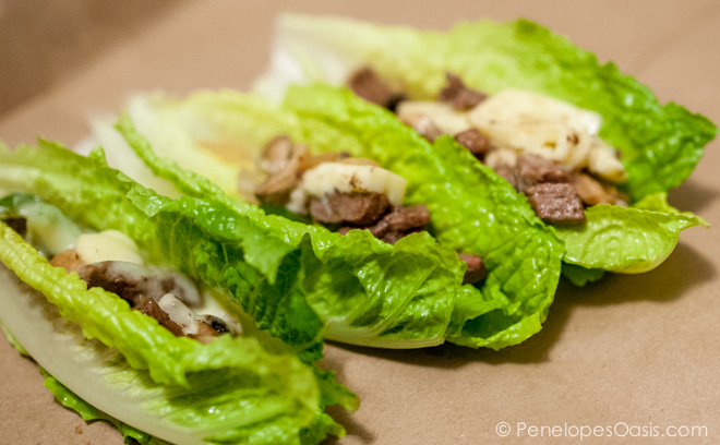 Healthy Philly Cheese Steak Lettuce Wraps Recipe