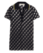 Stella McCartney - Stripped Tulle Polo Shirt $775