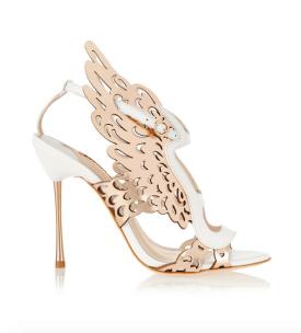 Sophia Webster - Parisa Laser-Cut Metallic Leather Scandals - $1,000