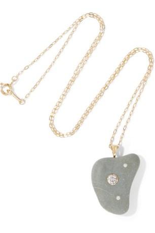 Yara 18-karat gold, stone and diamond necklace $5,109