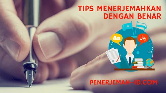translate indonesia inggris yang benar