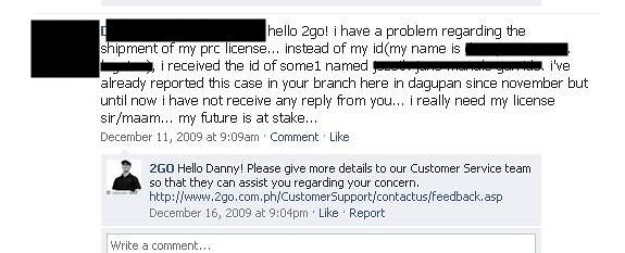 2GO Delivery and Customer Service: VERY DISAPPOINTING