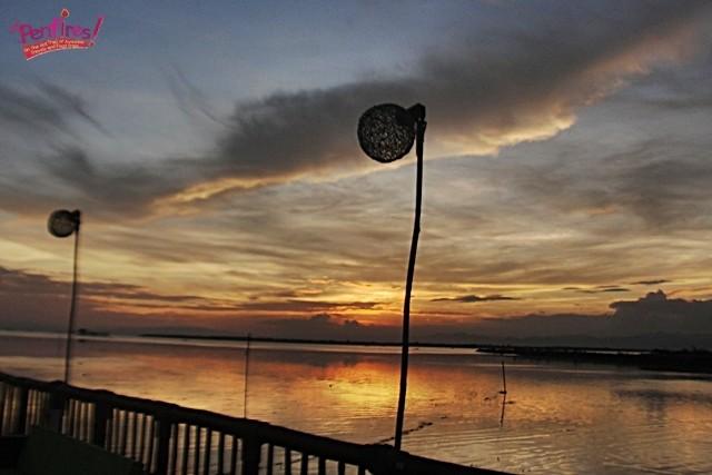 sunset view at lantaw floating native restaurant