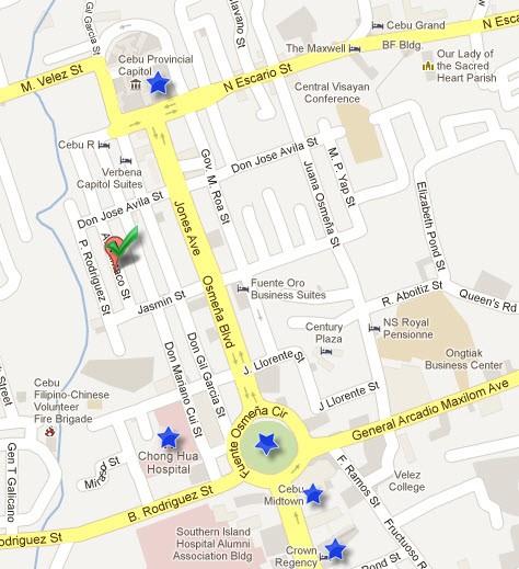 Map to STK Ta Bai
