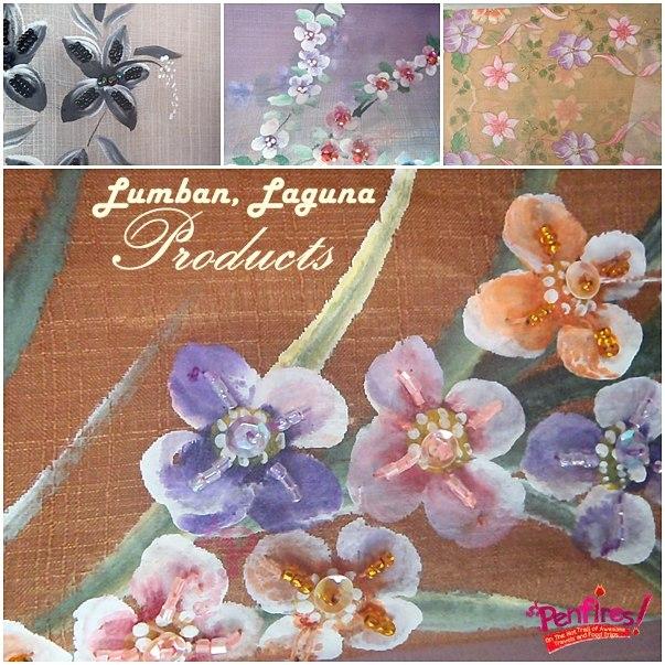 Handpainted fabrics and beadwork Lumban Laguna