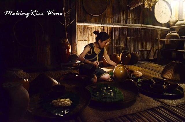 mari mari village activity rice wine making