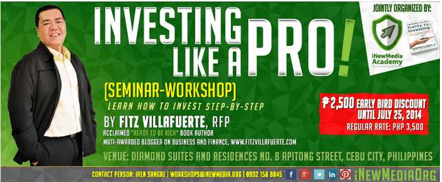 Investing Like A Pro Seminar Workshop in Cebu By Fitz Villafuerte