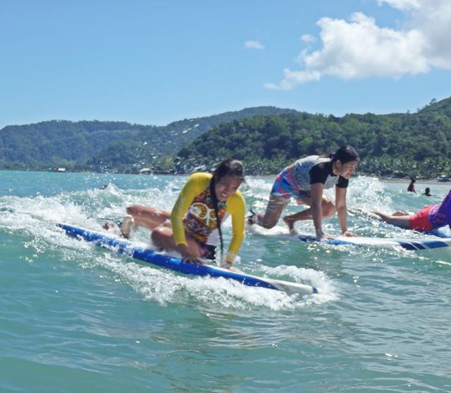 Baler Surfing First Timer