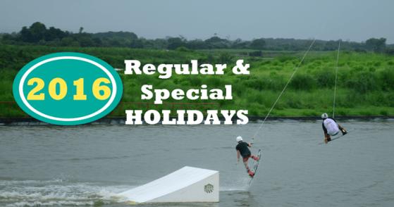 Malacanang Declared 2016 Holidays Philippines