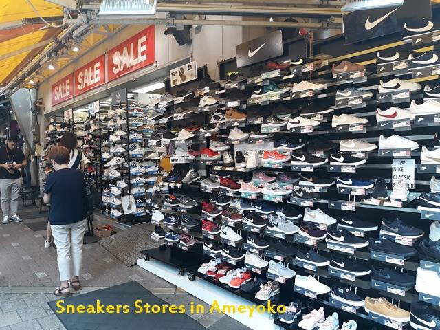 sneaker stores ameyoko tokyo