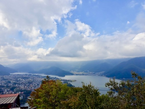 The scenic town of Kawaguchi