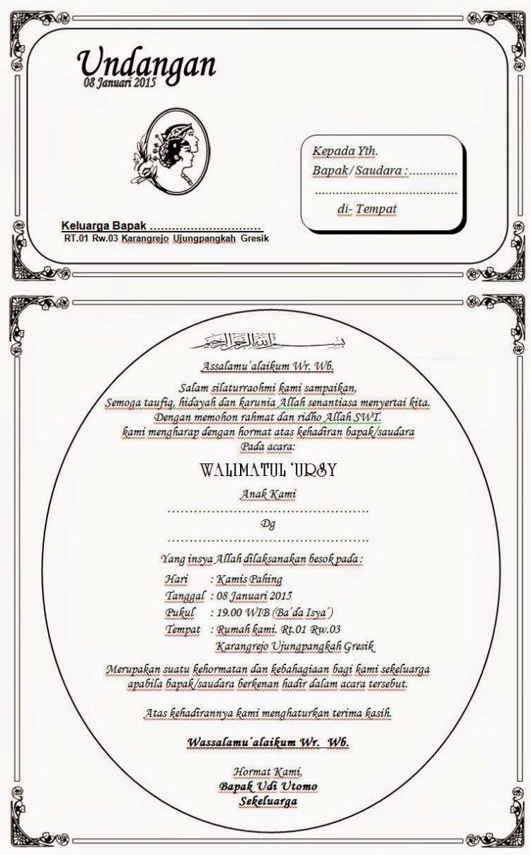 Cara Membuat Undangan Walimatul Ursy : membuat, undangan, walimatul, Contoh, Undangan, Walimatul, (DOWNLOAD, EDIT)