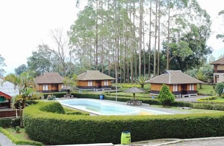 pekarangan villa agrowisata gunung mas bogor