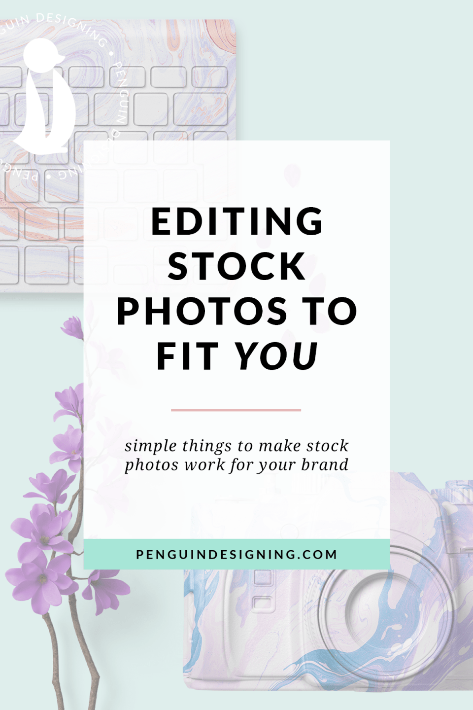 Super easy ways to make any stock photo work for your brand to keep a consistent message! (Video tutorials included!) | penguindesigning.com