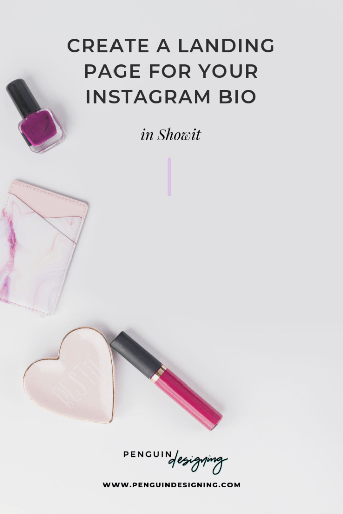 Create a landing page for your Instagram bio