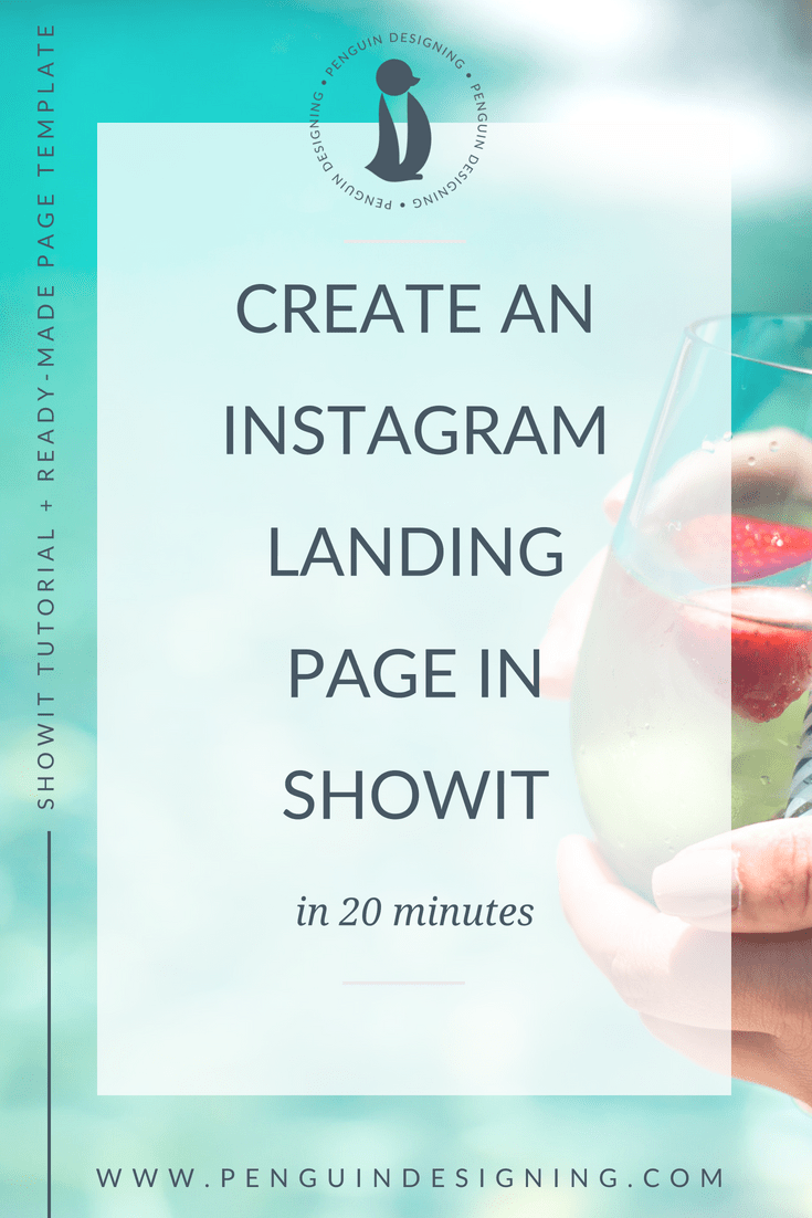 Create an Instagram landing page in Showit in 20 minutes, and grab a ready made template!