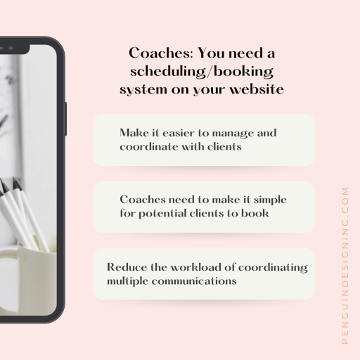 Coaches: you need a scheduling or booking system on your website