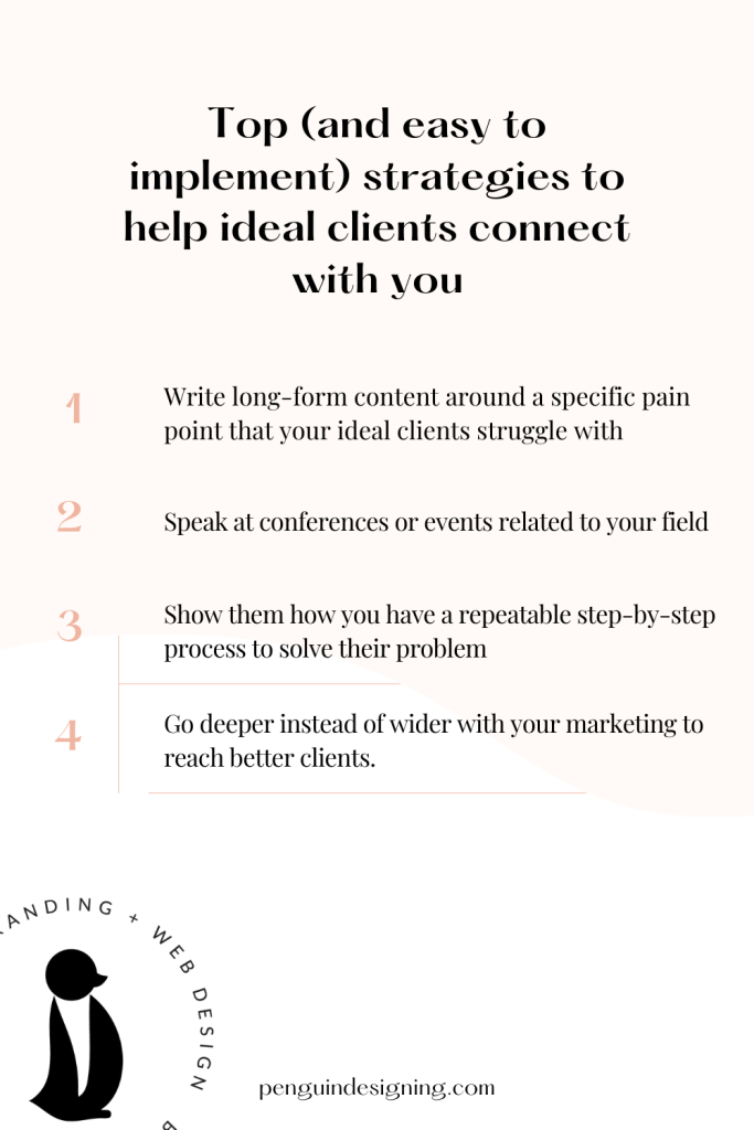Top strategies to help ideal clients connect with you