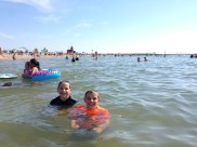 Swimming in Lake Michigan!