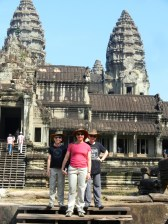 In front of Angkor Wat.