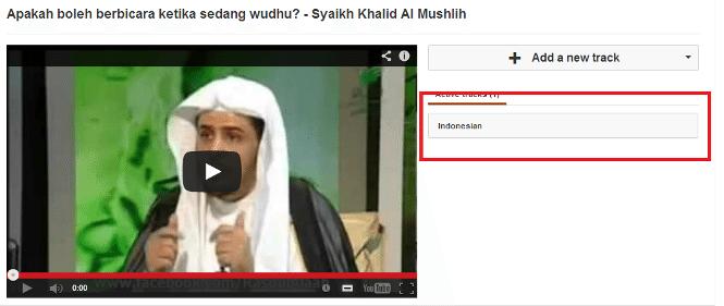 setting bahasa youtube
