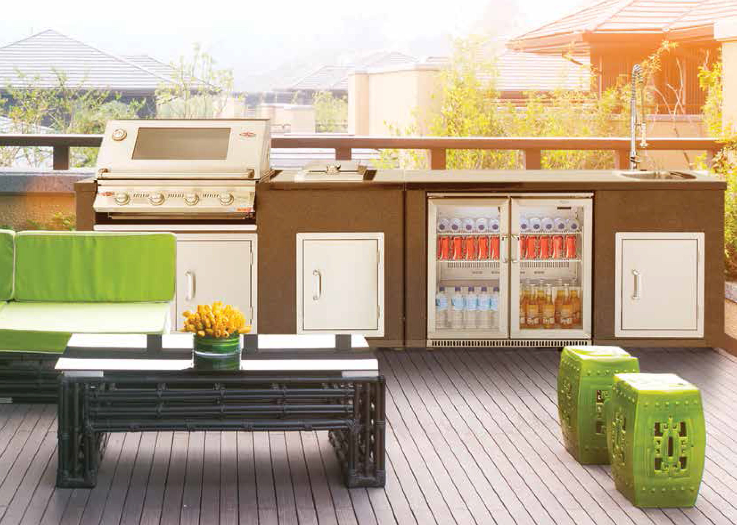 outdoor kitchen bbq black undermount sink kitchens peninsula air conditioning moonta all inclusive bbqs from beefeater