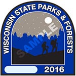 2016 Wisconsin State Park Sticker