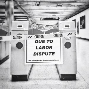 This Instagram image by @cujojp captured the sight that greeted commuters at BART stations during the strike.
