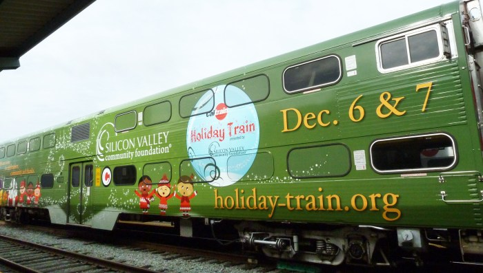 holiday train wrap