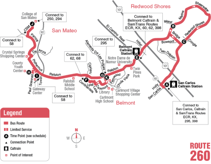 Route 260 Map