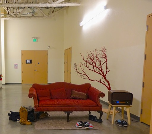 The waiting area outside of