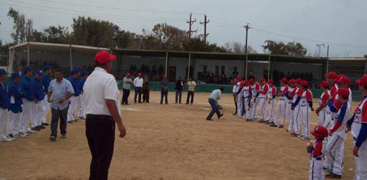 Inauguran la temporada de beisbol Panchón Espinoza