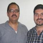 Doctor Guillermo Rosas Murillo y profesor Jesús Gastélum Ramírez, comandante general y presidente del comité de participación voluntaria de los Bomberos, respectivamente (Enrique Montaño).
