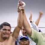"""El campeón Alejandro """"Osama"""" Valladares, tras retener el título superligero que avala el CMB"""