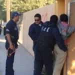 Personal de la Policía Federal Ministerial, captado durante el simulacro de venta de drogas.