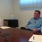 El licenciado Francisco Javier Hirales, quien está acompañado de Ángel Salvador, respondió al magistrado Homero Bautista Osuna.