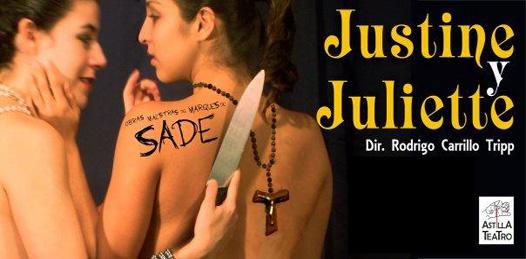 La obra Justine y Juliette, se presentará hoy