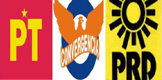 Acuerdos entre aspirantes a gobernador con los dirigentes nacionales del PRD-PT- Convergencia