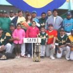 La novena de SAPA se coloca en la cima del beisbol burocrático.