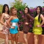 Claudia, Jacqueline, Natalia, Cristina, Karen y Judith, se declaran listas para ganar el concurso Chica UABCS 2010.