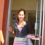 Lorena Espinosa, estudiante de la UABCS, y compañeros consideraron necesario que los estudiantes se alimenten sanamente para evitar la obesidad.