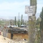 Este predio que ya había sido desalojado esta siendo ocupado nuevamente y ahora hasta en las invasiones se pueden rentar casas como se ve en el anuncio (Lupita Gómez)